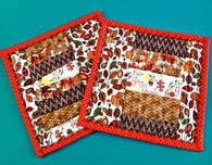 Potholders with pockets - QAYG fun for fall