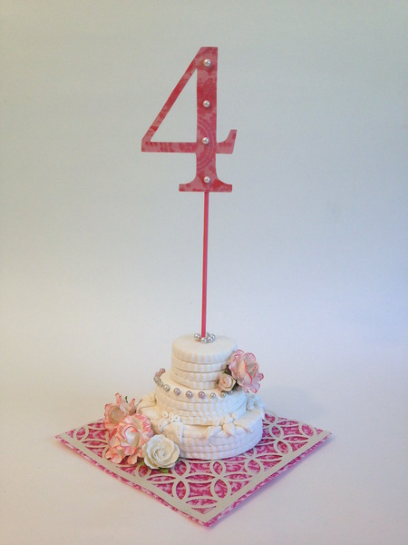 Clay Wedding Cake Table Sign