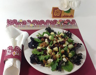 Tablescaping with Scrapbook Supplies