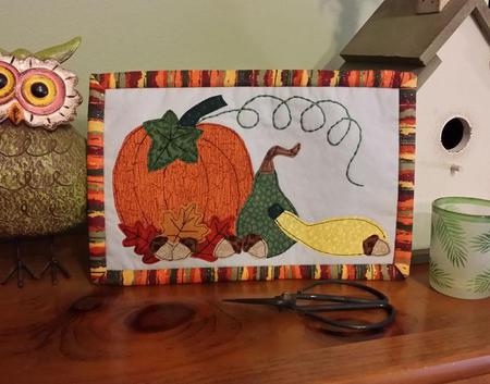 November mug rug tutorial