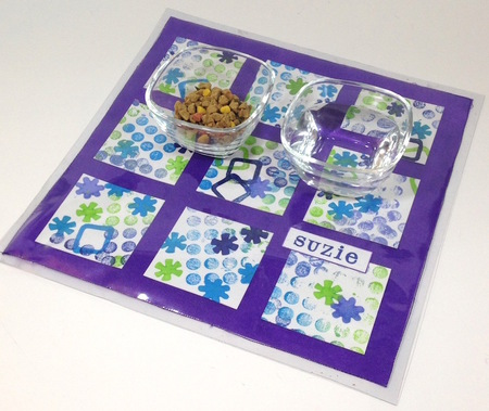 Paint Stamped Pet Placemat