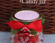 Etched Snowflake Candy Jar