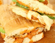 Thanksgiving leftover Turkey red pesto panini