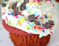 Red Velvet Cookie Cupcakes recipe