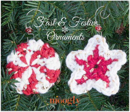 Fast and Festive Crochet Ornaments