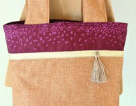 Color Block Tote Bag sewing tutorial