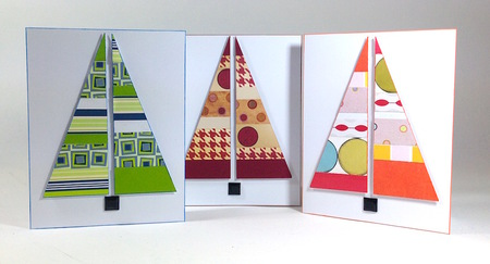 Modern Christmas Tree Cards