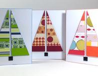 Modern Christmas Tree Cards