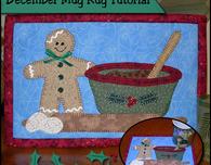Christmas baking mug rug