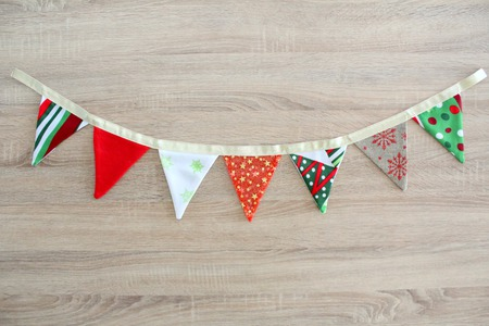 Christmas Fabric Bunting sewing tutorial
