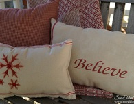 Quick & Easy DIY Holiday Stenciled Pillows