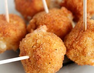 Spicy cheese balls appetizer