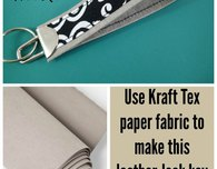 Kraft Tex 'leather' key fob