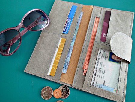 Kraft Tex leather wallet