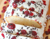 Cranberry chocolate orange zest pound cake