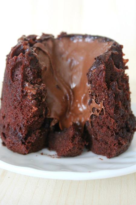 Nutella lava cake in a cup