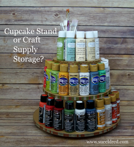 Re-purposed Acrylic Paint Holder