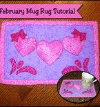 Valentine's Day mug rug tutorial