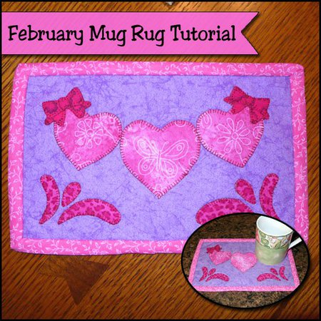 Valentine's Day mug rug tutorial