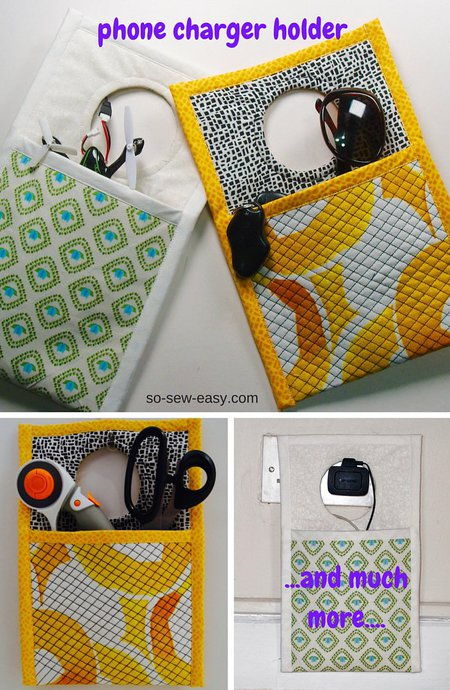 Phone charger holder sewing tutorial