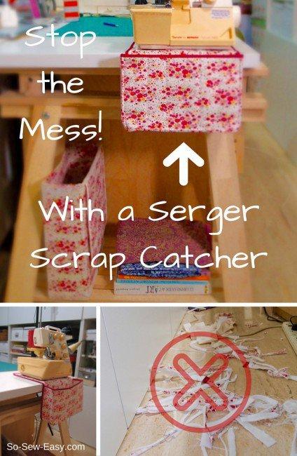 Serger scrap catcher tutorial