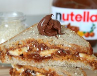 Nutella Peanut Butter breakfast sandwich