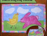Spring time mug rug