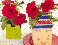 Milk Carton Flower Pots