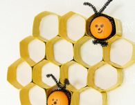 DIY Honeycomb out of toilet paper rolls