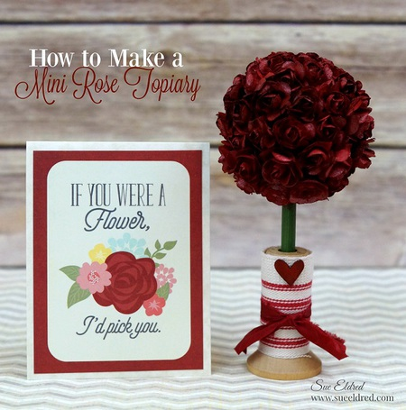 How to Make a Mini Rose Topiary
