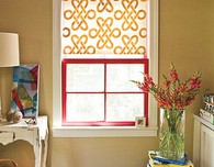 DIY Stenciled Window Shade