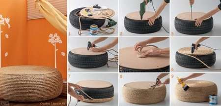 DIY Ottoman For Outdoor Usage