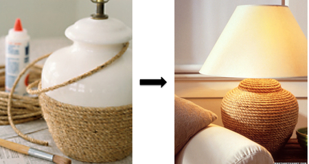 DIY Lamp In Rope
