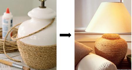 DIY Lamp In Rope