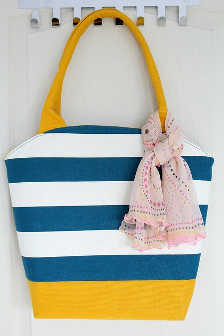 Free rounded top tote bag pattern