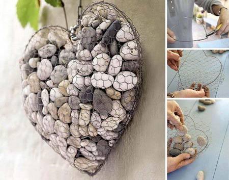 DIY Stone Rock Heart