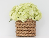 DIY Nautical Rope Vase