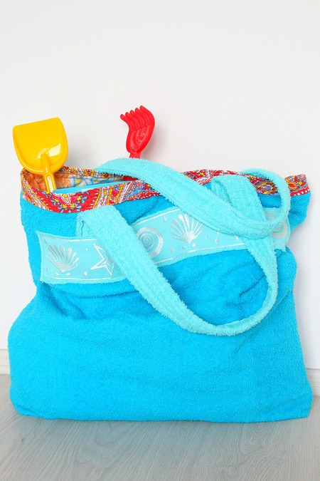 Towel Beach Tote Bag Sewing Tutorial