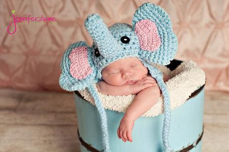 elephant crochet hat