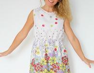 Gathered waist summer dress sewing pattern