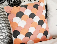 No-Sew Scalloped Pillow Case