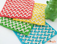 Bright Chevron Dishcloth