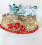 DIY lace crowns tutorial