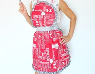 Vintage apron free sewing pattern