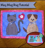 Puppies and kittens mug rug tutorial