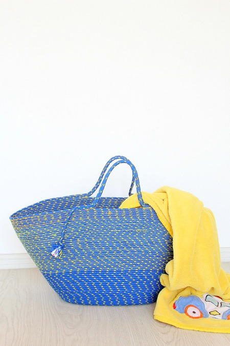 Rope bag sewing tutorial