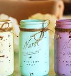 DIY Chalk Painted Mason Jars