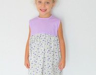 Girls gathered dress sewing pattern
