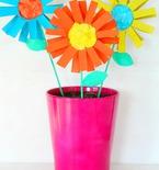 DIY Paper flowers kid craft