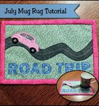 Road trip summer mug rug tutorial